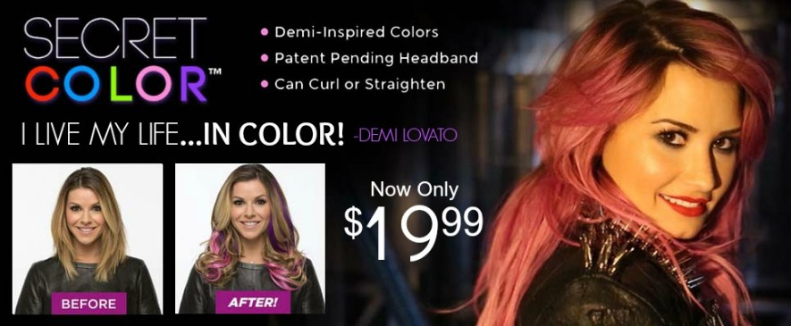 Secret Color As Seen On Tv Secret Color Hair Extensions